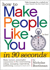Books and Training Programs Make People Like you in 90 seconds by Nicholas Boothman - Books and Training Programs